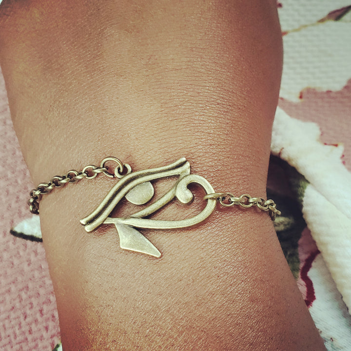 Bronze Eye Of Horus Bracelet