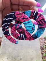 Ankara Swirl Earrings