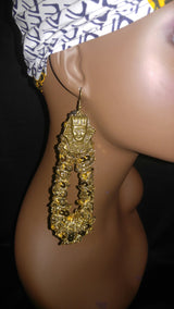 Egyptian Sequin Earrings