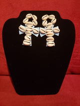 Cowrie Shell Ankh Earrings