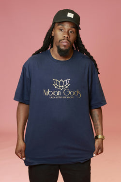 Navy Blue Nubian Gods T-Shirt