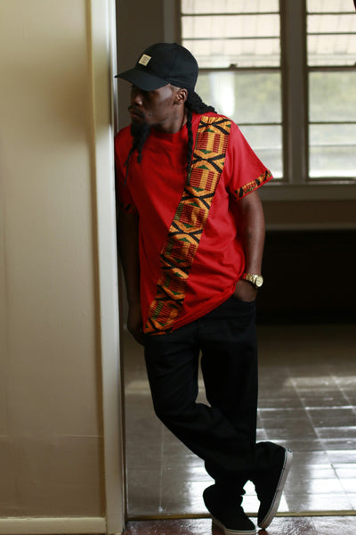 Red Kente Shirt