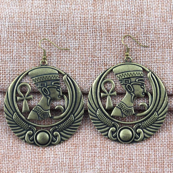 Bronze Egyptian Pharaoh Earrings
