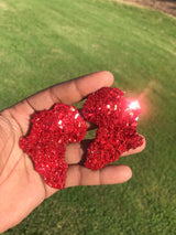 Red Crystal Africa Stud Earrings