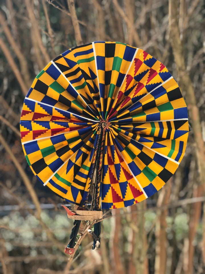 Blue Kente  Fan