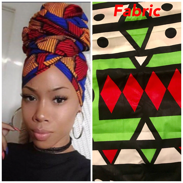 Graphic Green headwrap