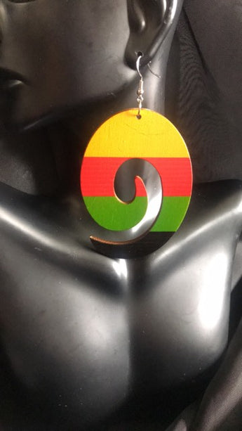 Rasta SWIRL EARRINGS