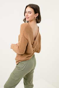 Twist Front or Back Sweater
