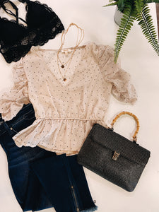 Sweetheart Sheer Blouse
