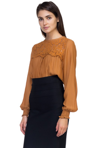 Lace Smocked TOP