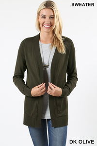 OPEN CARDIGAN SWEATER WITH POCKETS