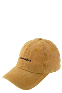 Good Vibes embroidered Cap
