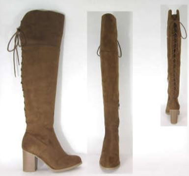 LAce Up Over Knee Boot Camel