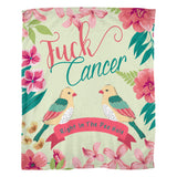 F*ck Cancer Fleece Blanket