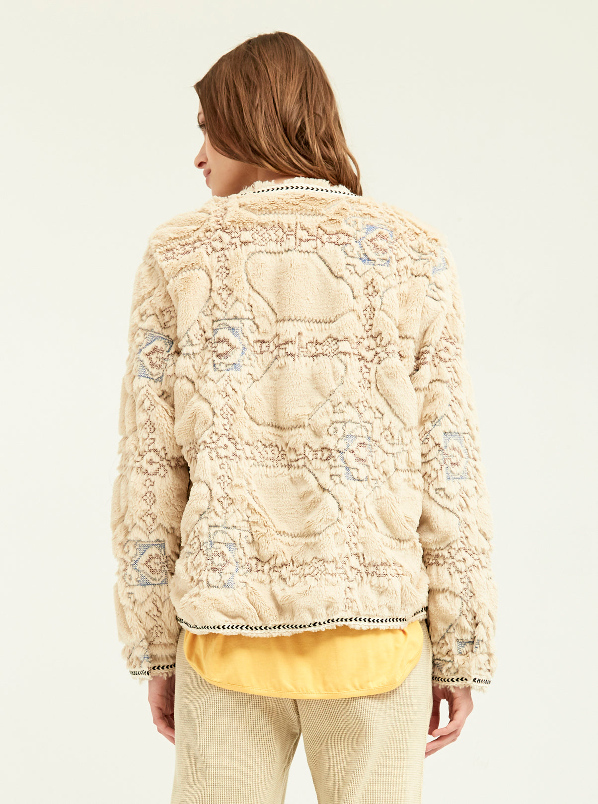 Embossed Plush Fur Cardi - Boundless North Online Store