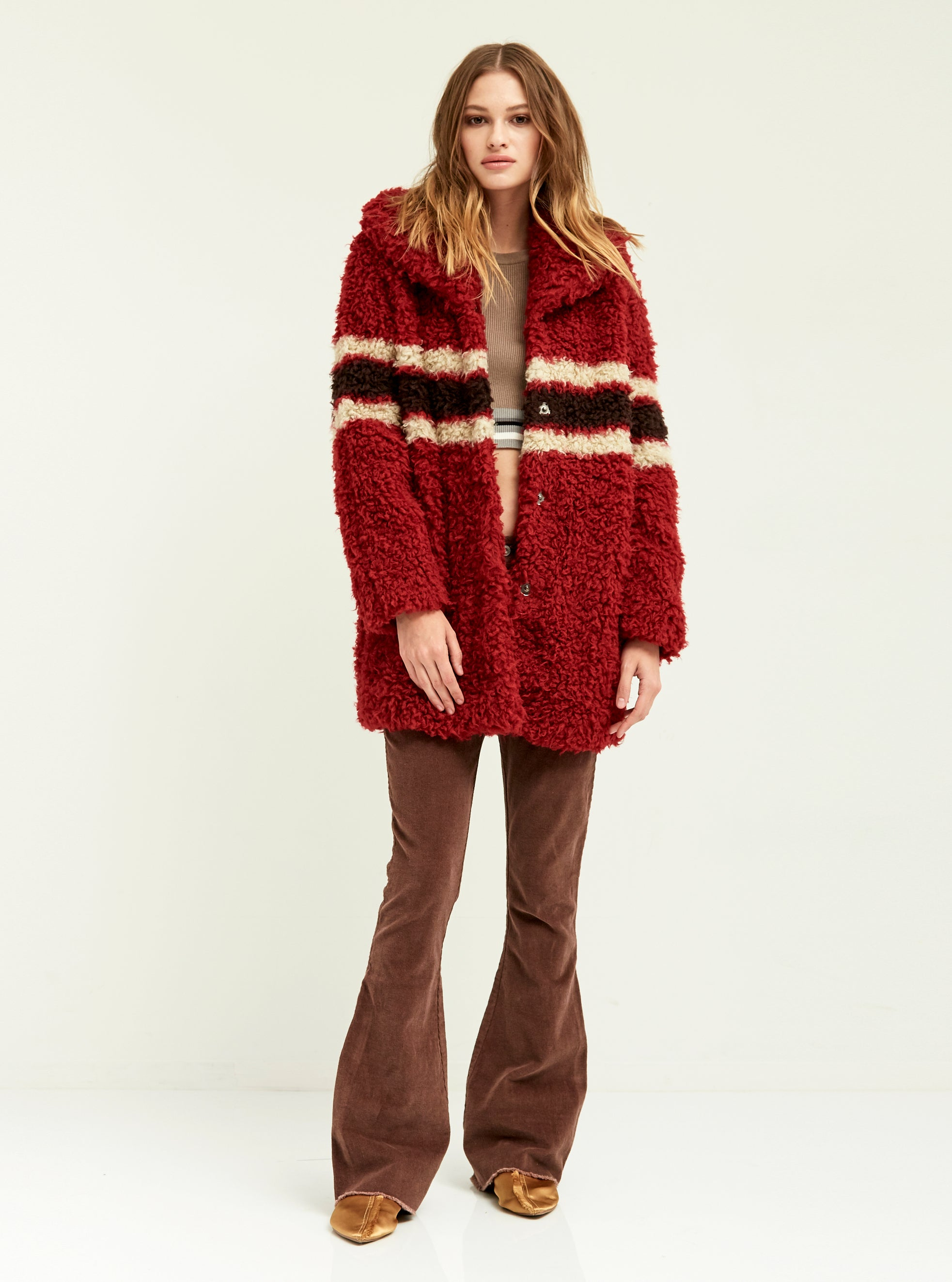 Faux Curly Drifter Cardi - Boundless North Online Store