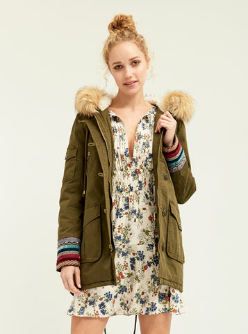 Multi-Trim Woodland Anorak