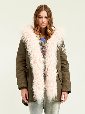 Metal Beaded Ava Parka