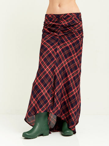 Ruched High-Low Lodge Skirt