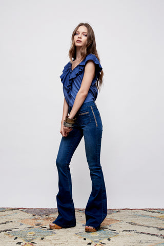 Graceland Vintage Washed Ruffle Top