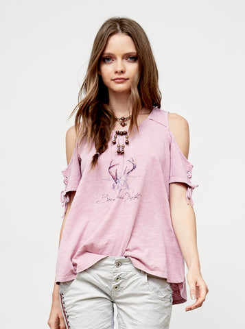 Honey Bee Cold Shoulder Top