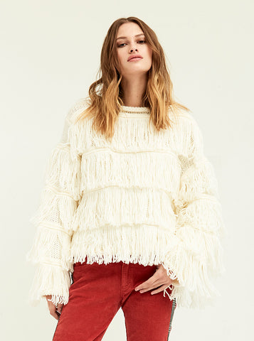 Fringe Layered Sweater