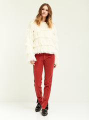 Fringe Layered Sweater - Boundless North Online Store