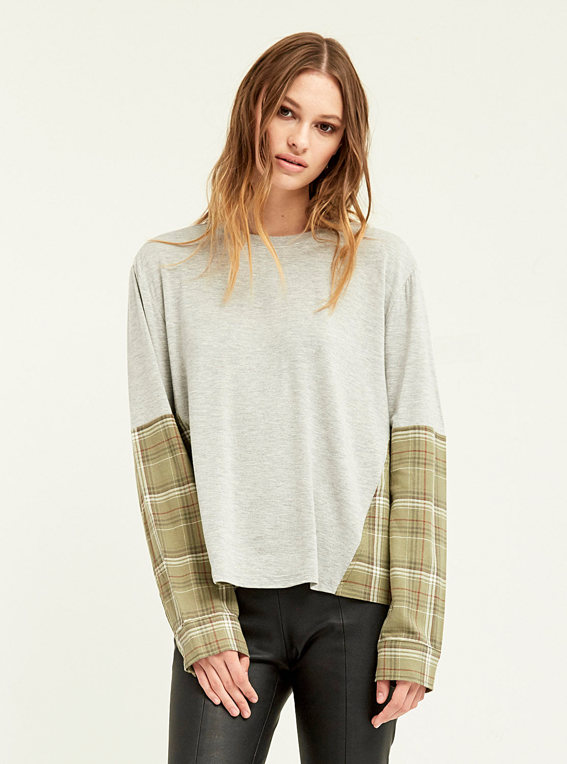 Flannel Blocked Cobain Sweatshirt - Boundless North Online Store