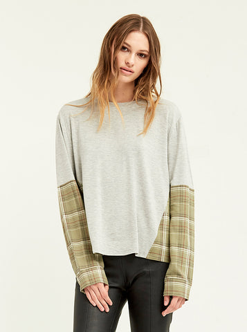 Flannel Blocked Cobain Sweatshirt