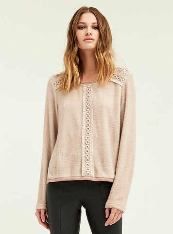 Duo Lace Trimmed Sweater