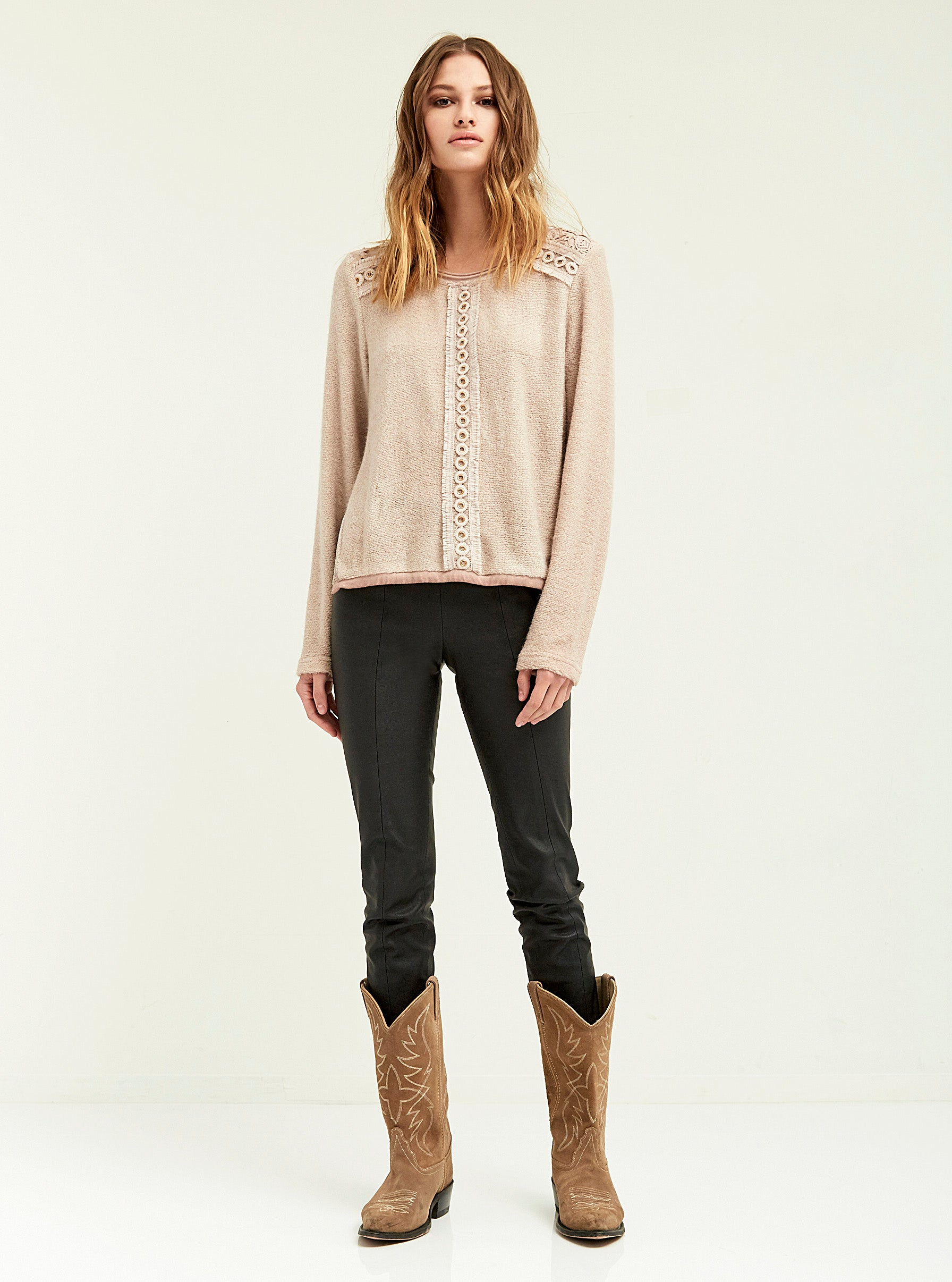 Duo Lace Trimmed Sweater - Boundless North Online Store