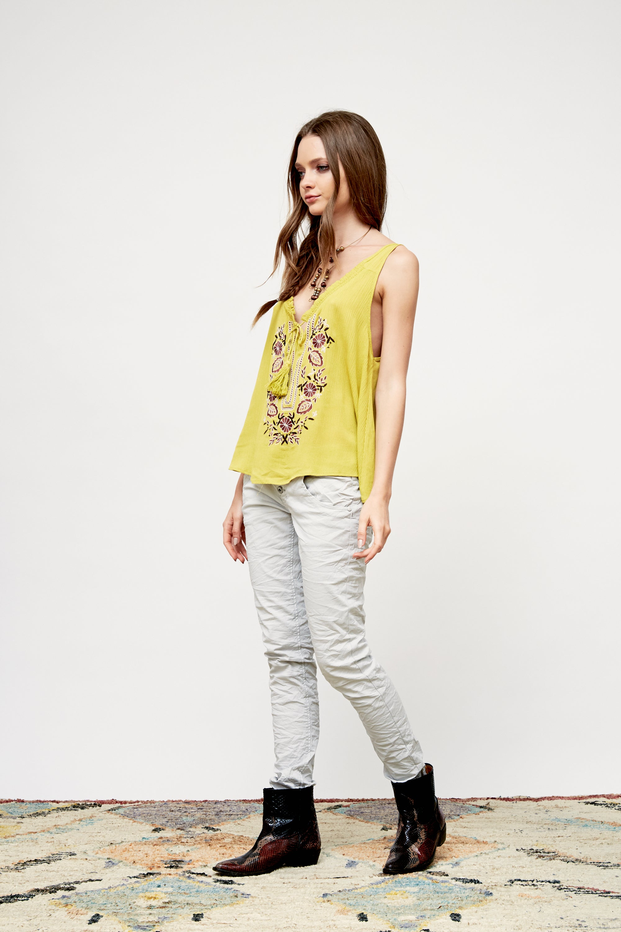 Carumba Embroidered Tank Top - Boundless North Online Store