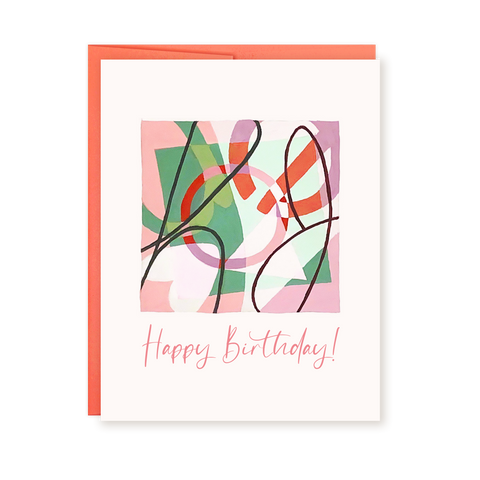 Happy Birthday | Abstract Card by Ellena Day