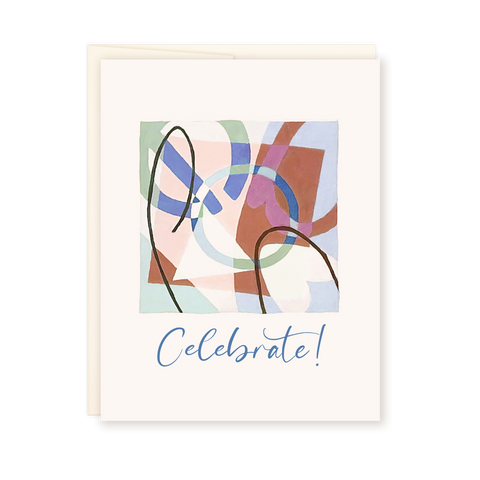 Celebrate | Abstract Card by Ellena Day