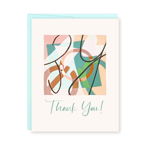 Thank You | Abstract Card by Ellena Day
