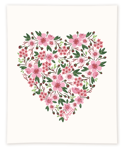 Cherry Blossoms Amore Print