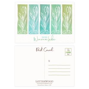 Winona Lake Cattails Postcards