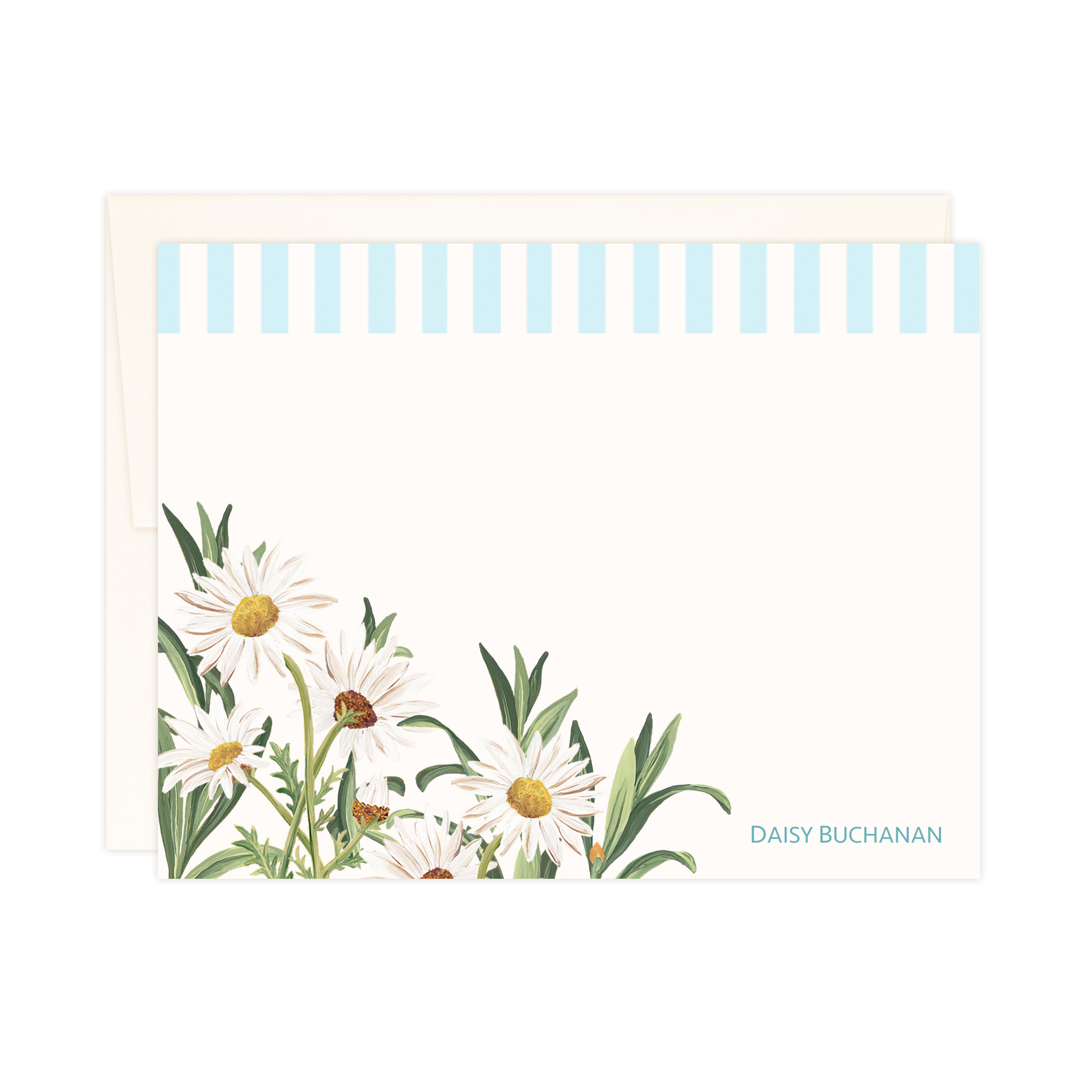 Summer Daisies Cabana Stripe | Small Notes