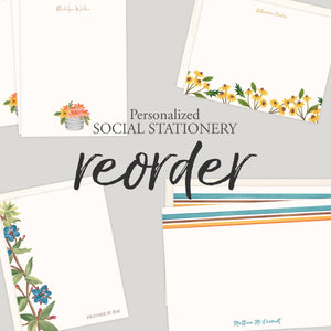 Personalized Flat Notes | Reorder