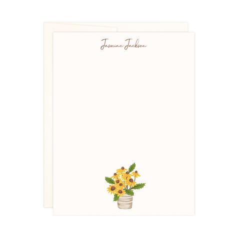 Bucket of Sunflowers | Small Notes