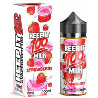 Keep It 100-Strawberry Milk - Cloudy Peak Vapes