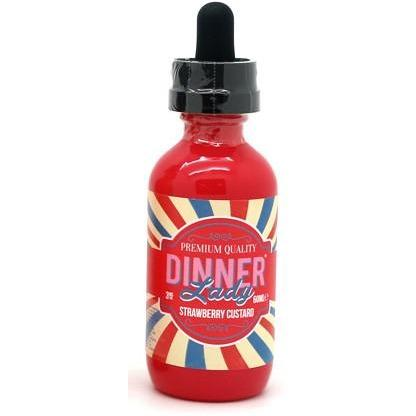 Dinner Lady- Strawberry Custard - Cloudy Peak Vapes