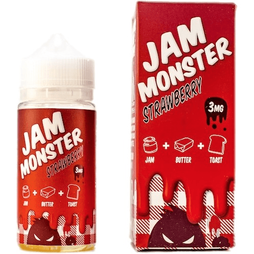 Jam Monster-Strawberry - Cloudy Peak Vapes