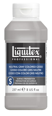 Liquitex Professional Neutral Gray Gesso - 8oz Bottle