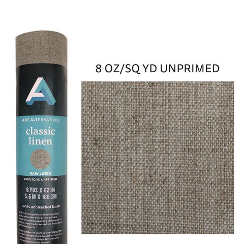 Art Alternatives Unprimed 8 oz. Linen Canvas Roll