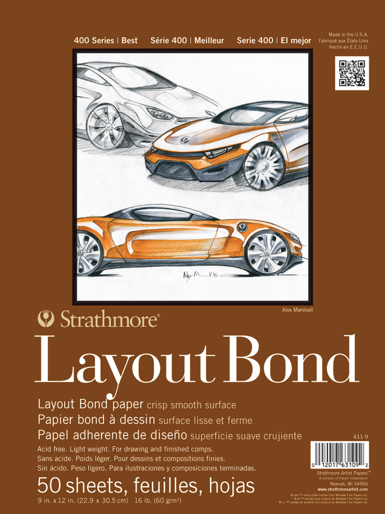 Strathmore Layout Bond Sketch Pads