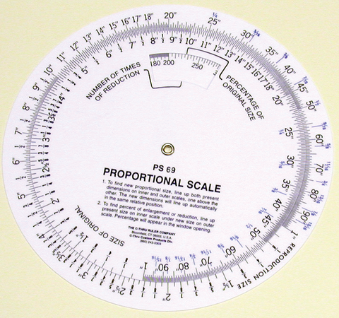 Circular Proportional Scale