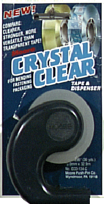 Moore Crystal Clear Tape & Dispenser
