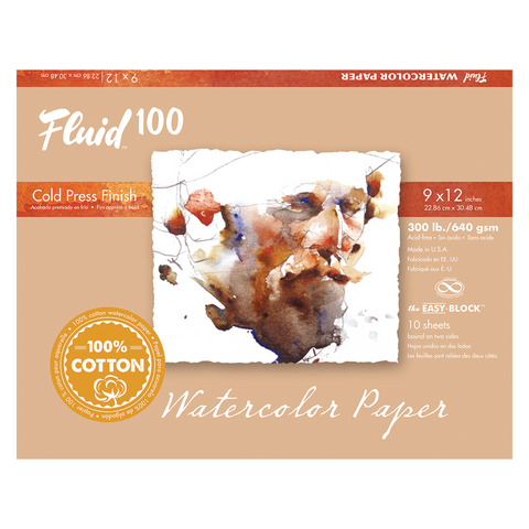 Fluid 100 Watercolor Blocks - 300lb Cold Press