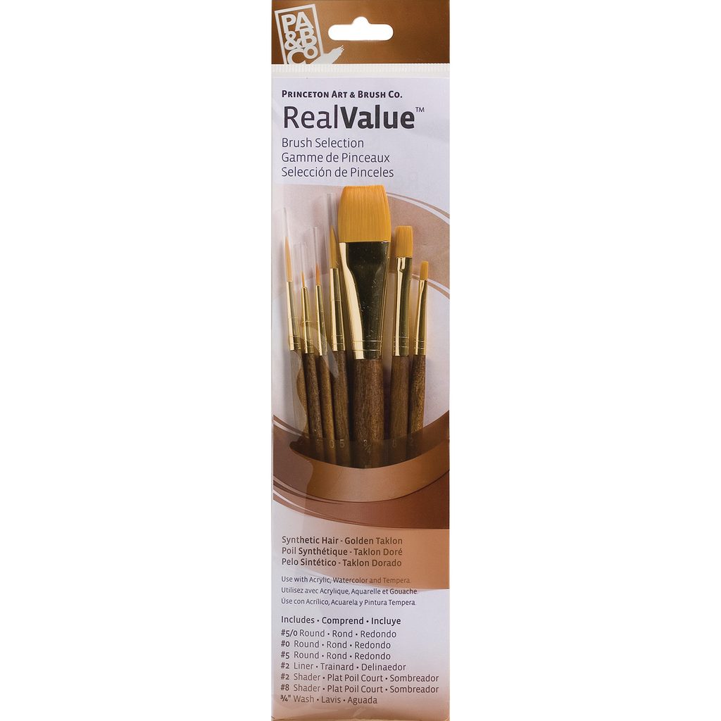 Princeton Real Value Golden Taklon Assortment 6 Pack